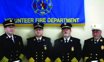 Former Croton on Hudson Volunteer Fire Department chiefs John Munson, Phil Dinkler, Steve Dominello and Chris Columbo (left to right) all started in the department's very successful Explorer program. Of the 70 Explorers who've participated since 1990, nearly 50 percent are still with the department. Compare that to a 25 percent retention rate for all other new members.