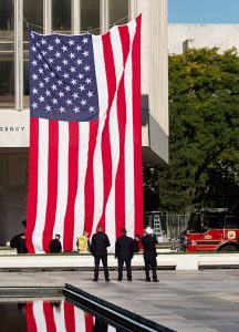 American Flag at Fallen Firefighters Memorial